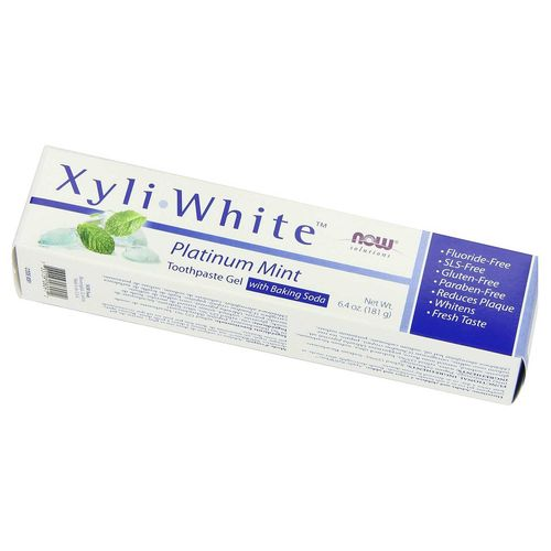 Now Foods XyliWhite Οδοντόκρεμα Gel Platinum Mint 6.4 oz