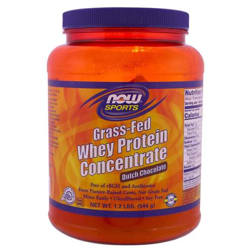 Now Foods Grass-Fed Whey Protein Concentrate - Dutch Chocolate  - 1.2 lbs. (544 g) - 350617_front.jpg