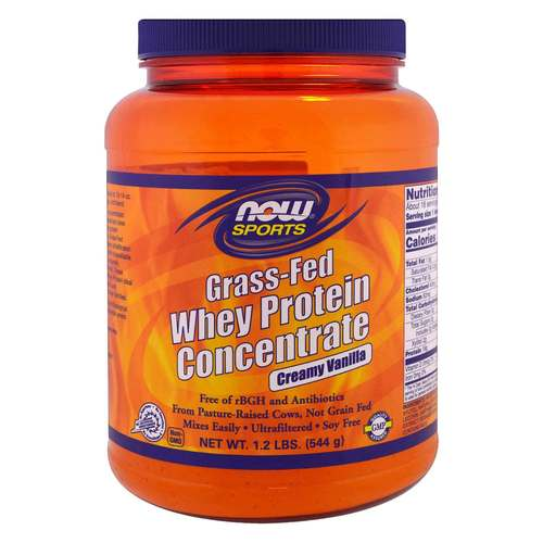 Now Foods Grass-Fed Whey Protein Concentrate - Creamy Vanilla - 1.2 lbs. (544 g) - 350704_front.jpg