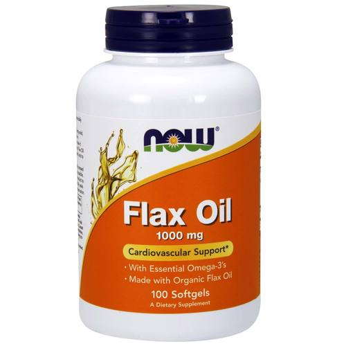 Now Foods Flax Oil  - 1,000 mg - 100 Softgels