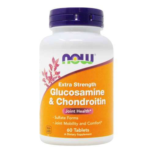 Now Foods Extra Strength Glucosamine and Chondroitin - 60 Tablets - 412_front2020.jpg