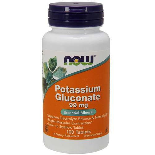 Now Foods Potassium Gluconate - 99 mg - 100 Tablets - 478.jpg