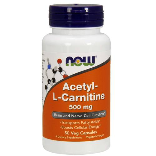Now Foods Acétyl-L Carnitine 500 mg 50 Caps