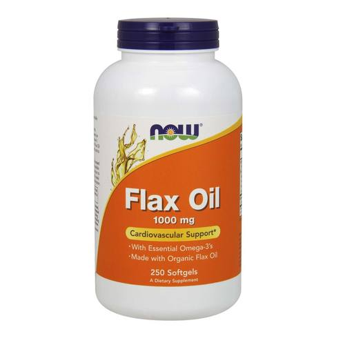 Now Foods Flax Oil - 250 Softgels