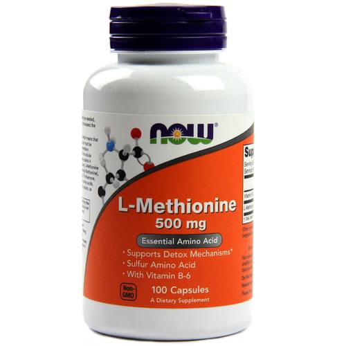 Now Foods L-Methionine - 500 mg - 100 capsules - 509_1.jpg