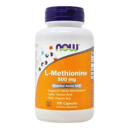 Now Foods L-Methionine - 500 mg - 100 Capsules - 509_front2020.jpg