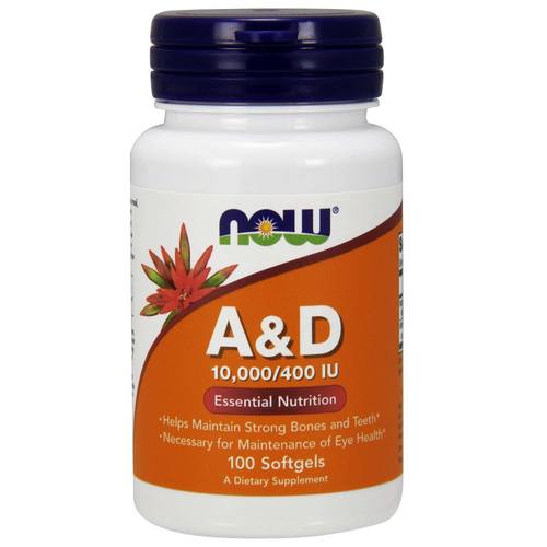 Now Foods A and D  - 100 softgels