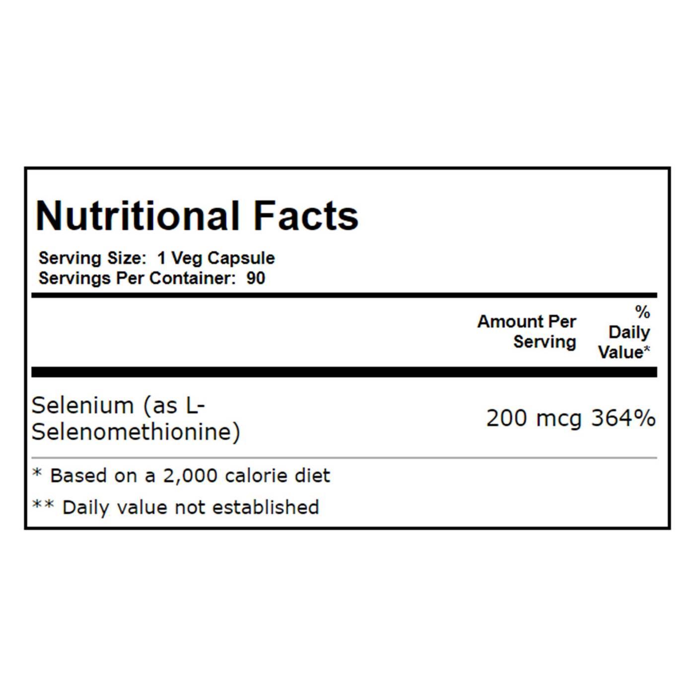 Now Foods Selenium Yeast Free - 200 mcg - 90 Veg Capsules
