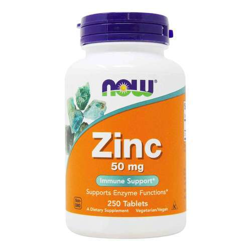 Now Foods Zinc Gluconate - 50 mg - 250 Tablets - 5959_front2020.jpg