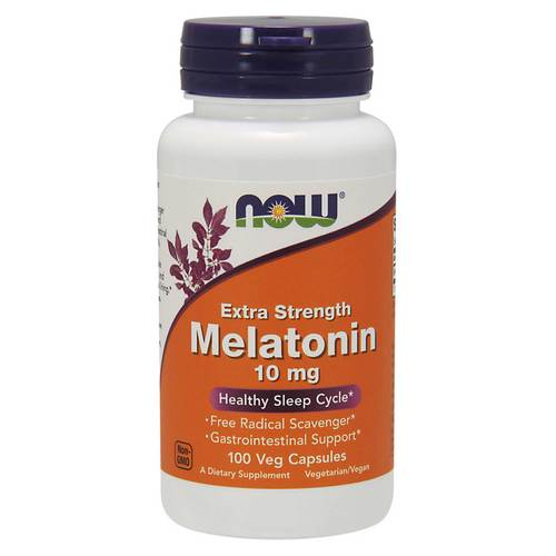 Now Foods Melatonin - 10 mg - 100 Veg Capsules - 70796_front.jpg