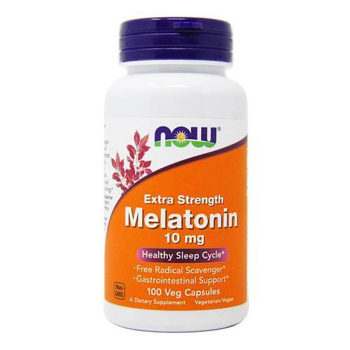 Now Foods Melatonin 10 mg Extra Strength  - 100 Veg Capsules - 70796_front2020.jpg