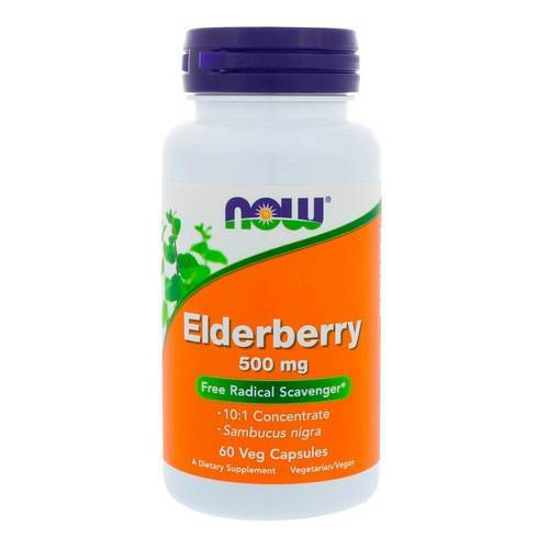 Now Foods Elderberry 500 mg  - 60 Veg Capsules - 9265_front2020.jpg