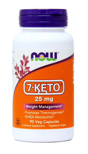 Now Foods 7-Keto  - 25 mg - 90 Vegetarian Capsules - 1.jpg