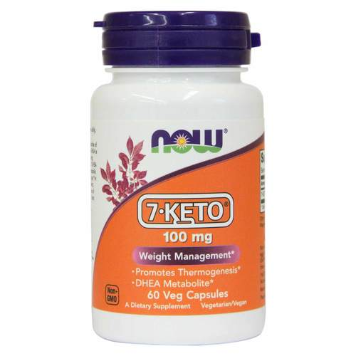 7-Keto 100 mg Gerenciamento do Peso Now Foods 60 VCáps.  - 9405_front.jpg