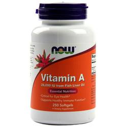 Now Foods Vitamin A  - 25,000 IU - 250 Softgels
