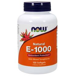 Now Foods Vitamin E Mixed Tocopherols  - 1000 IU - 100 Softgels