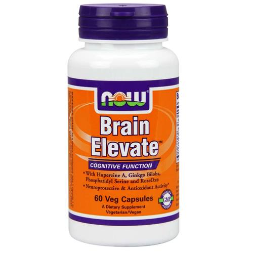 Now Foods, Brain Elevate - 60 Cápsulas Vegetarianas