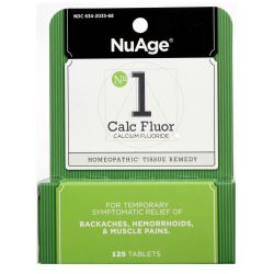 NuAge Homeopathic Remedies No. 1 Calc Fluor