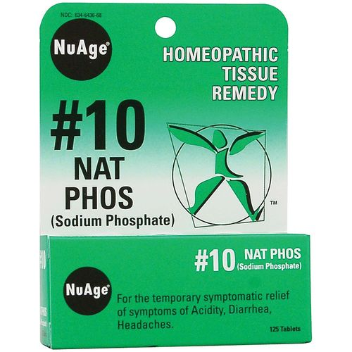 NuAge Homeopathic Remedies No. 10 Nat Phos  - 125 Tablets