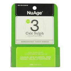 NuAge Homeopathic Remedies No. 3 Cal Sul