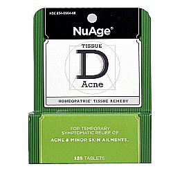NuAge Homeopathic Remedies Tissue D Acne