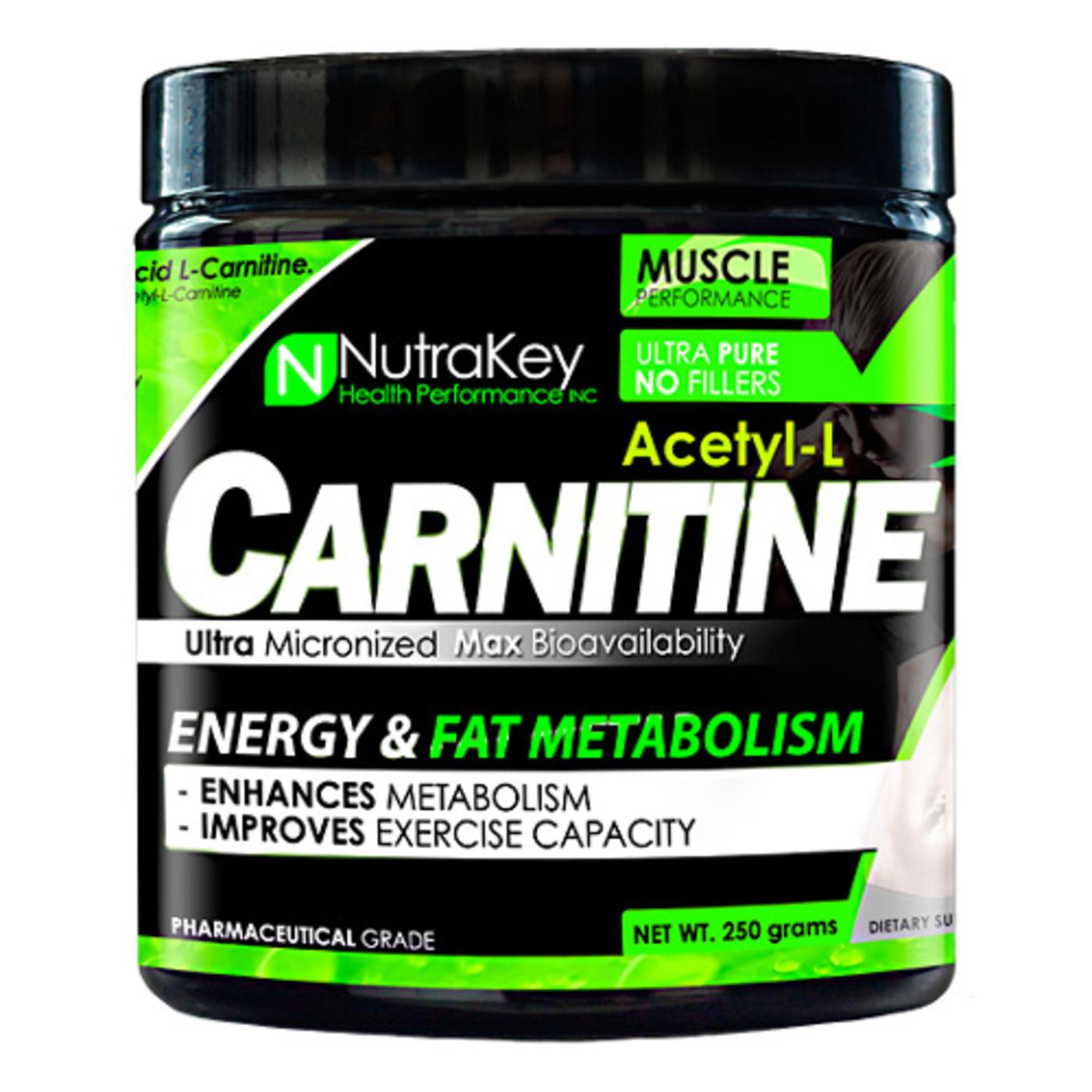 nutrakey acetyl-l-carnitine - 250 g powder