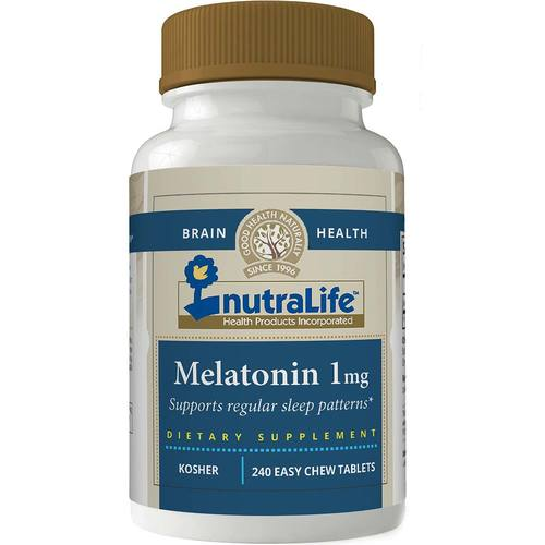 NutraLife Melatonin - 1 mg - 240 Easy Chew Tablets - 275839_1.jpg