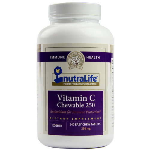 NutraLife Chewable Vitamin C  - 250 mg - 240 Easy Chewable Tablets