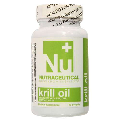 Nutraceutical Research Institute Krill Oil  - 500 mg - 60 Softgels - 15872_front.jpg