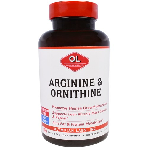 Arginine 500mg and Ornithine 250mg