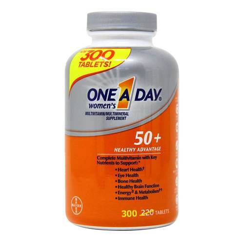 One-A-Day 50+ Women's Healthy Advantage Multivitamin - 300 Tablets - 321797_front2020.jpg