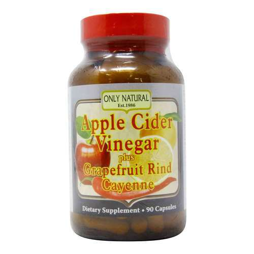 Only Natural Apple Cider Vinegar Plus Grapefruit Rind Cayenne - 700 mg - 90 Capsules - 2189_front2020.jpg