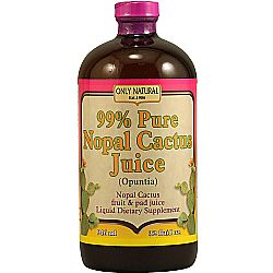 Only Natural 99 Percent Pure Nopal Cactus Juice