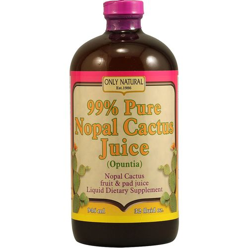 Only Natural 99 Percent Pure Nopal Cactus Juice     - 32 fl oz