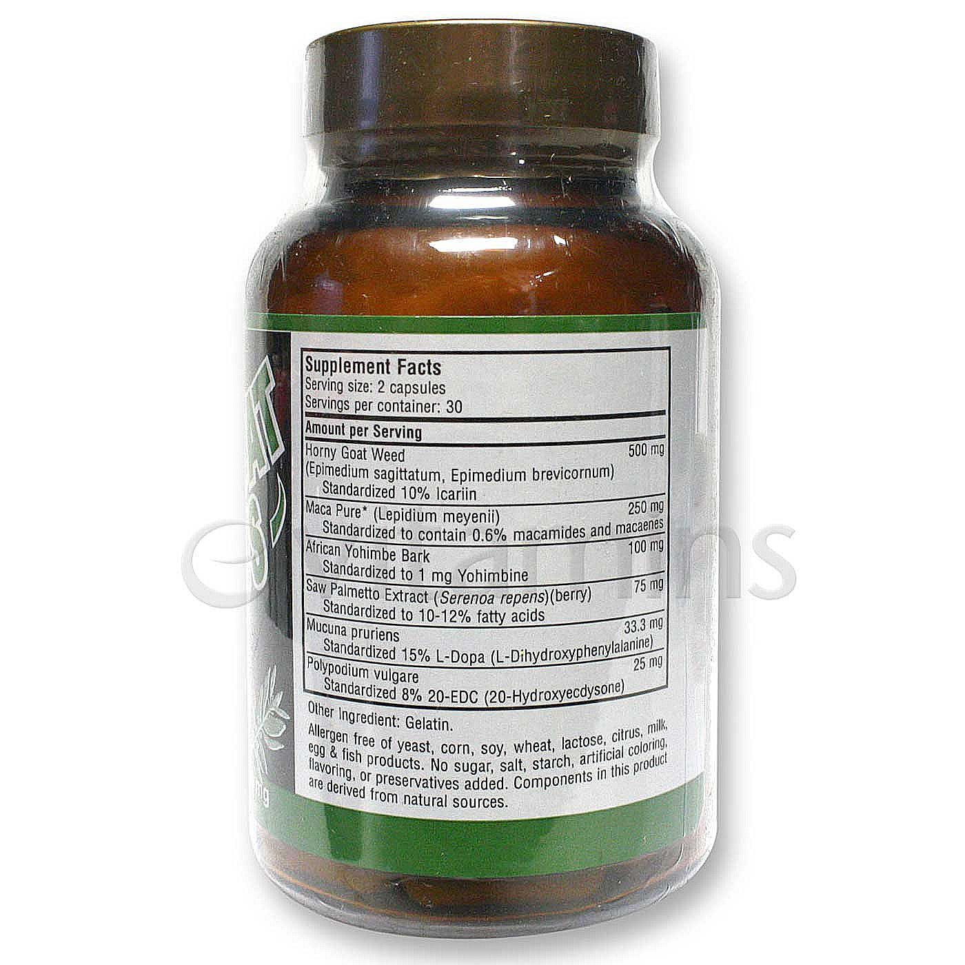 Only Natural Horny Goat Weed Plus - 60 Capsules -4221