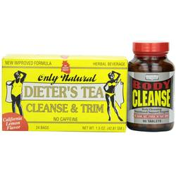 Only Natural Body Cleanse plus Free Dieter's Tea Bags