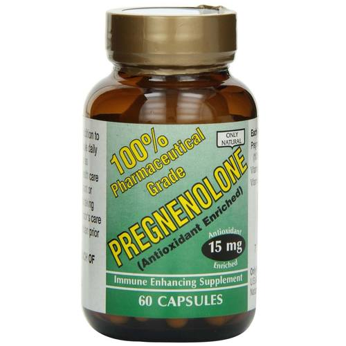 Only Natural Pregnenolone 15 mg  - 60 Capsules - 7337.jpg