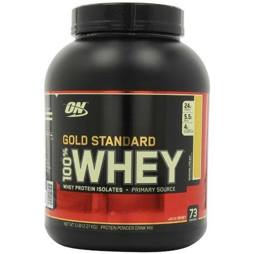 100% Whey Proteína Gold Standard Optimum Nutrition Banana Cream 5 lbs/ 2.27 kg