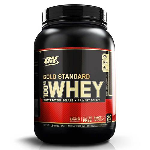 Optimum Nutrition Gold Standard 100% Whey Protein Double Rich Chocolate - 2 lbs - 7197_front.jpg