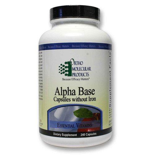 Ortho Molecular Products Alpha Base Capsules Without Iron
