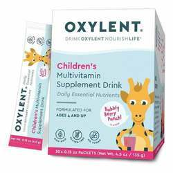 Oxylent Children's Multivitamin Supplement Drink Bubbly Berry Punch