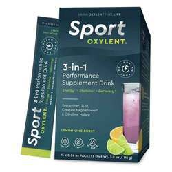 Oxylent 3-In-1 Performance Supplement Drink Powder Lemon Lime