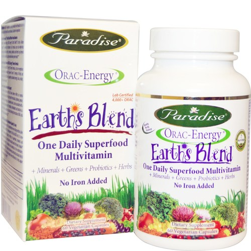 Earth's Blend Superfood Iron Free Multivitamin