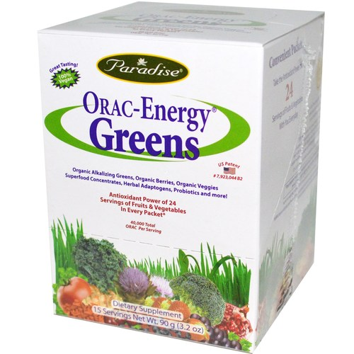 Orac Energy Greens 15 Packets Box