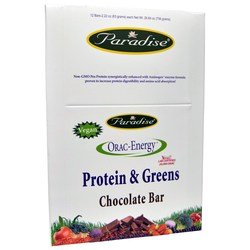 Paradise Herbs ORAC-Energy Protein & Greens Chocolate Bar
