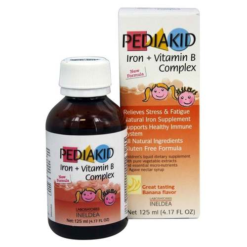 Pediakid Iron Vitamin B Complex Banana 125 Ml Evitamins Australia