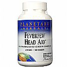 Planetary Herbals Feverfew Head Aid 615 mg - 100 Tablets