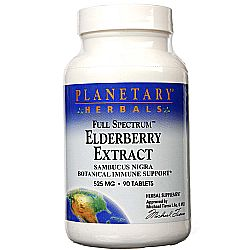 Planetary Herbals Full Spectrum Elderberry Extract 525 mg