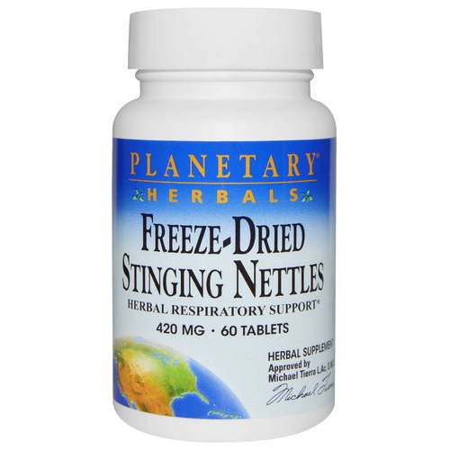 Planetary Herbals Freeze-Dried Stinging Nettles 420 mg - 60 Tablets - 8669_01.jpg