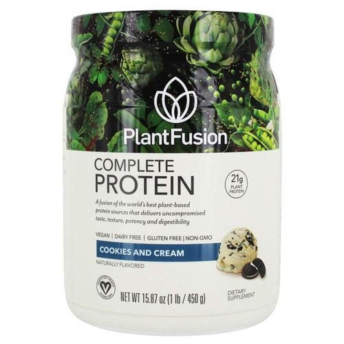 Plantfusion, Proteína Vegetal Completa - Cookies e Creme - 450g (1 lb) - 55943_front.jpg